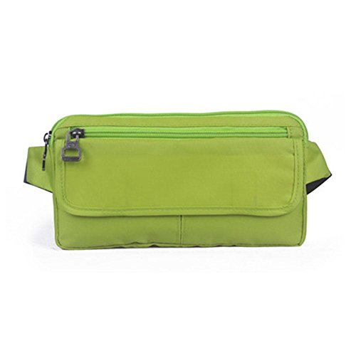 BUSL Wandern Hüfttaschen Außenreisedokumente. Handybeutel persönlicher Sport Männer und Frauen dünnes unsichtbares Sicherheitspaket wasserdichte Taschen laufen apple green