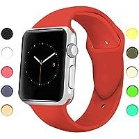 Appolis Watch Armband 38mm 42mm, Weiches Silikon Sports Ersetzerband Uhrenarmband, Smart Watch Ersatz Armbänder Uhrenarmbänder für iWatch Serie 3 Serie 2 Serie 1