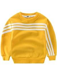 Casa Niños Suéter Sweatshirt, Sudadera de Navidad Grueso Cálido Chándal Cuello Redondo de Manga Larga Jumper Pullover Para Niños 3-8 Años