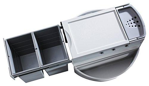 Hailo 3645221 Abfallsammler Rondo 90.2/40 für Diagonal-Eckspülenschränke ab 900 mm Breite - Breite Kugellager