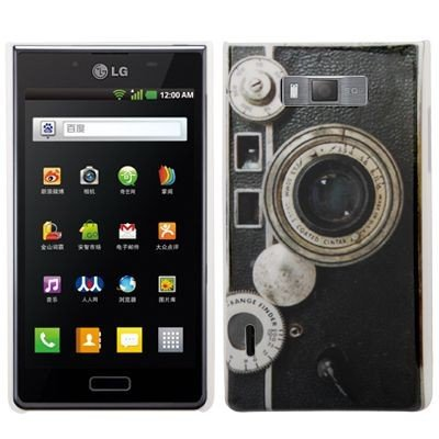 Hardcase / Hülle LG P700 Optimus L7 Kamera mit Objektiv Rangefinder Schutzhülle Case Back Cover Schale Vintage