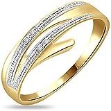 Yellow Gold Diamond Ring, 0.02 ct diamond, GH-SI.