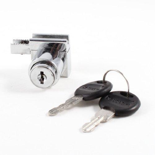 Schreibtisch Buche Sicherheit sperren Metall Schublade Lock Silber Ton w 2Schlüssel