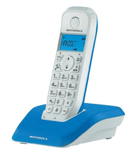 Motorola Startac S1201 DECT Schnurlostelefon (Freisprechen, ECO-Modus, Displaybleuchtung auf Gerätefarbe abgestimmt) blau