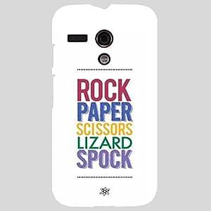 Back cover for Moto G (1st Gen) Rock Paper Scissors Lizard Spock