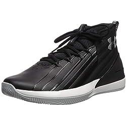 Under Armour Lockdown 3, Zapatos de Baloncesto para Hombre, Negro (Black/White/Metallic Silver 003), 44/45 EU