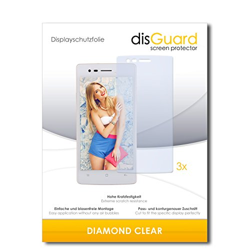 3 x disGuard® Schutzfolie Oppo Neo 5s Bildschirmschutz Folie