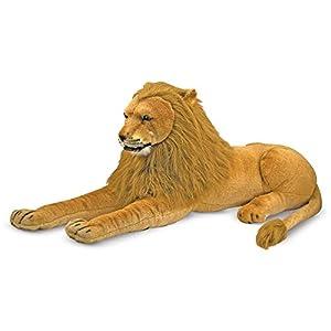 Melissa & Doug- Lion Giant Leones y Otros felinos Grandes Juguete de Pluche, Multicolor (12102)