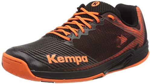 Kempa Herren Wing 2.0 Handballschuhe, Mehrfarbig (Schwarz/Fluo Orange 02), 43 EU