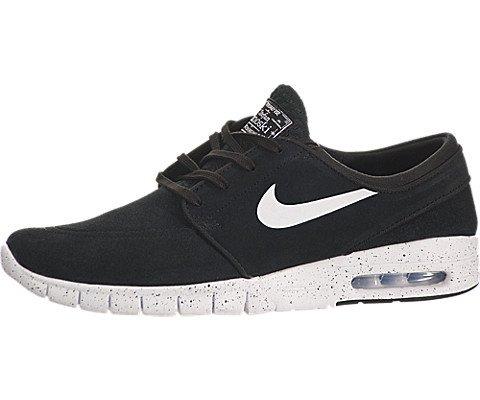 Nike Herren Stefan Janoski Max L Skateboardschuhe, Schwarz (Black/White), 45.5 EU