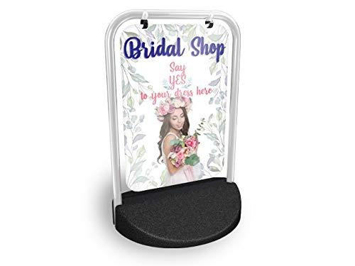 Eco Swinger Pavement Schild, Mega-Liste Outdoor Street Werbung Display Bridal Shop - Shop Street Sign