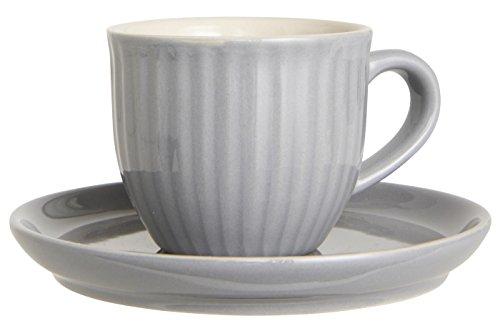 Tasse m/Untertasse 135 ml Mynte French Grey