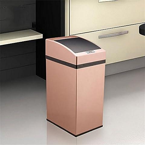 Dula® Poubelle Poubelle en acier inoxydable Induction poubelles Ménage Smart Chambre à coucher de salle de bain européen non–Foot–Type Poubelle