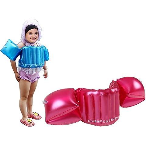 Anam Kids Vida Float chaleco natación, aprender brazo floatys, espuma flotador natación círculo brazo niños bebé chaleco salvavidas con brazo, color rojo, tamaño S(age