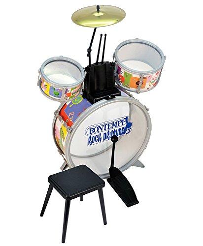 Bontempi JD4500-Schlagzeug ,Trommelset mit Hocker