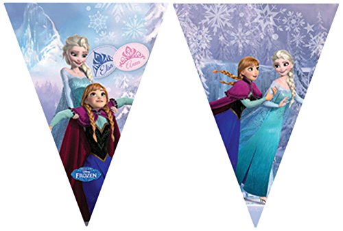 2,6 m Disney Frozen Wimpelkette Banner in hellblau (Disney Frozen Party)