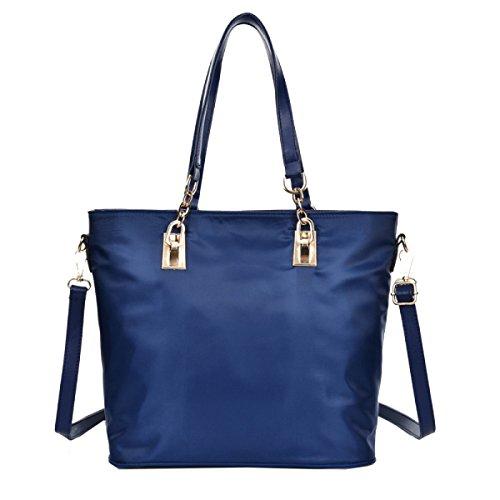 Borse Ms. Yy.f Borse Moda Donna Semplice Sacchetto Di Spalla Cuoio Borsa Pratico Interno Blue