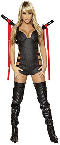 Ninja Sexy Kostüm - Sexy Ninja Schwertkämpferin Kostüm - schwarz - Medium
