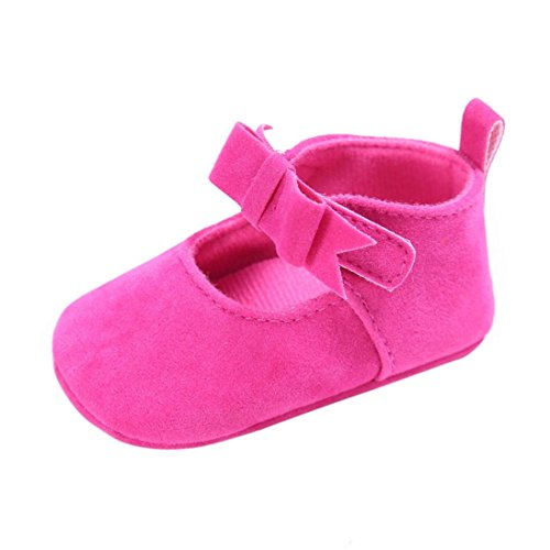 Bébé Chaussures, Malloom® Lit bébé fille Toddler  Fleur Nouveau-né Doux Semelle antidérapante Bébé Baskets (6 ~ 12 Mois, Rose vif)