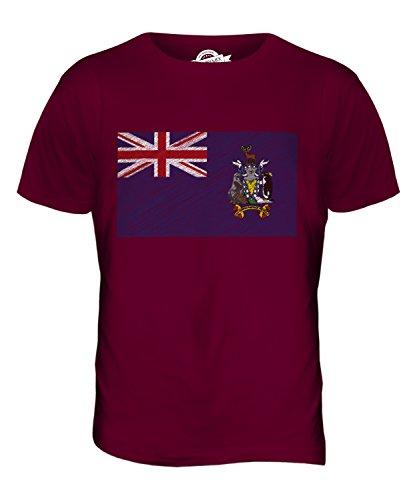 CandyMix Südgeorgien Und Die Südlichen Sandwichinseln Kritzelte Flagge Herren T Shirt Burgunderrot