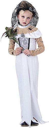 Kinder Halloween Fancy Party Woche Tag Kleid Mädchen Scary Zombie Braut Kostüm UK, Weiß