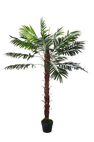 Sarah B XXL Palme. Farnpalme, Kokospalme JWT1127 Riesige künstliche grüne Kokos Palme, Farnpalme 140 cm hoch, Kunstpflanze, Kunstblume, Kunstbaum, Zimmerpflanze künstlich