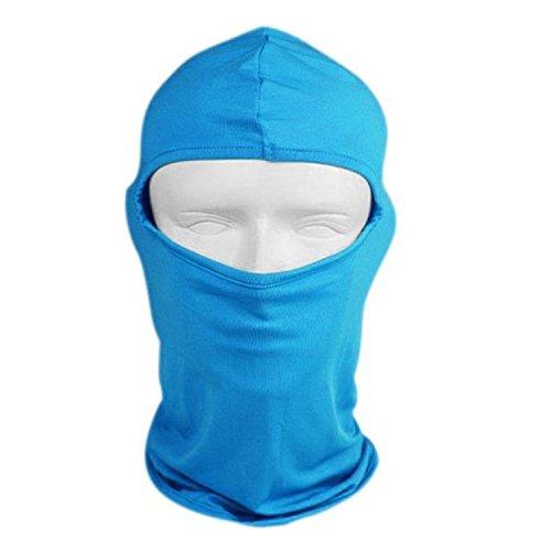 homedecoam Lycra Ski Bike Bicycle Football Helmet Reflective CS Face Mask Sports Balaclava, Uomo, Sky Blue