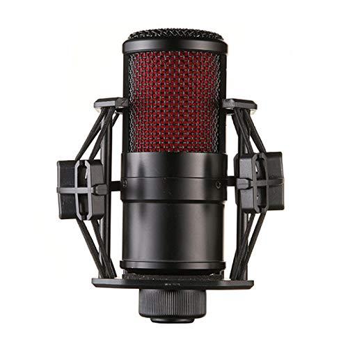 PQZATX Kondensator Mikrofon mit Anti Vibration Aufprall Halterung Professionelles Studio Mikrofon für Aufnahme, Computer, BüHne, Ktv, Heim, Live