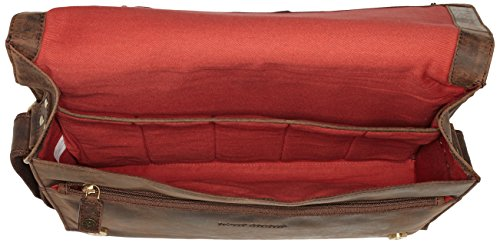 Bruno Banani Kollektion_ASPEN BL 320.2388 Unisex-Erwachsene Schultertaschen 36x28x8 cm (B x H x T) Braun (Braun)