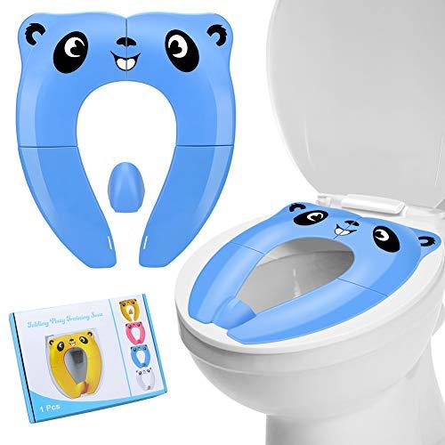 Reductor WC Ni/ños RIGHTWELL Orinal Portatil Plegable,Tapa WC Plegable para Ni/ños Blanco Compacto y Port/átil para Viajes Upgrade Version