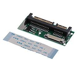 F Fityle HHD SSD Adapter Karte 1.8inch Lif zu 2.5inch SATA Konverter Lif-Kabellängenmodus: 35 mm - 46 x 18 mm