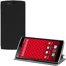 kwmobile Funda potectora práctica y chic FLIP COVER para OnePlus One en negro