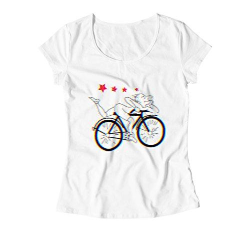 Bikes Hoffman (Hoffman on Bike Trip Vision Damen (Women's) T-Shirt - Medium)