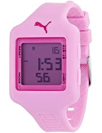 Puma Time Mädchen-Armbanduhr Slide- S Pink Digital Quarz Plastik PU910792016