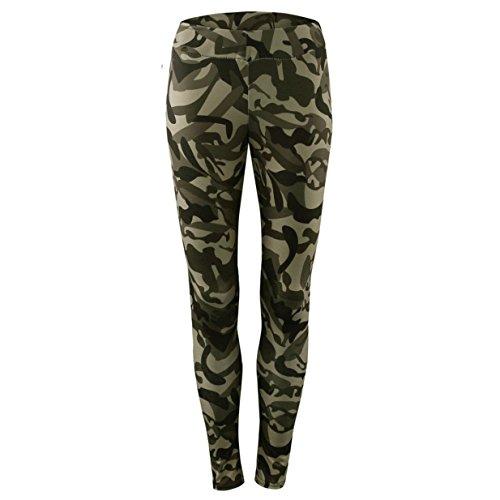 Mujer Pantalones Blusa Largos Camuflaje Deportivos Skinny Leggings para Yoga y Ejercicio Running Apuntan Recortados Elástico Workout Gimnasio Fitness (L, Pantalones)