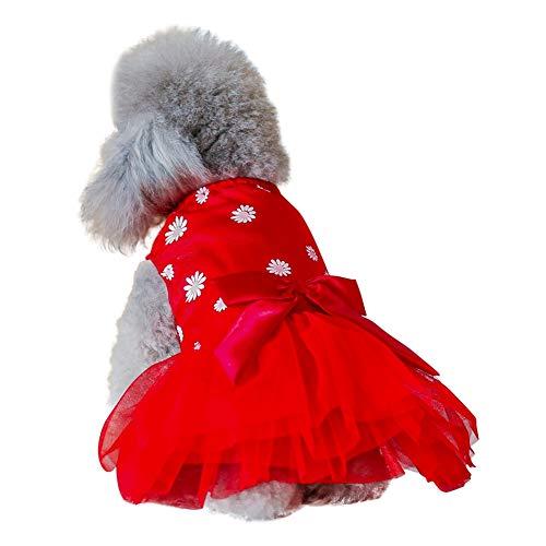 s Kleider Frühling Sommer Bow Knot Skir für kleine und mittlere Hunde Welpen Kostüm,XS/S/M/L/XL ()
