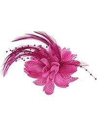 HFJ&YIE&H Tocados de flor púrpura de la pluma para boda/fiesta casco