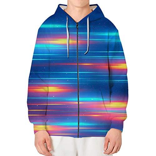 Hoodies Tops Bedrucktes Langarm-Sweatshirt mit Kordelzug und Pullunder-Blusentops von Pocket ☆Elecenty☆ (Jeans Männer Aeropostale)