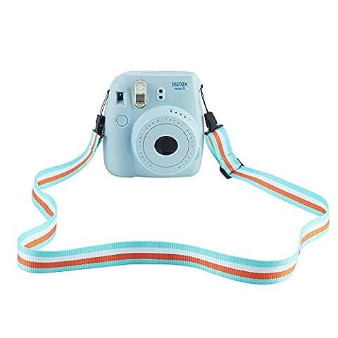 SAIKA Camera Shoulder Strap for Fujifilm Instax Mini 9 / 8 / 8+ / 7s / 25 / 26 / 50s / 70 / 90 Instant Camera, Adjustable Belt Neck Strap for Polaroid Camera and Digital Camera