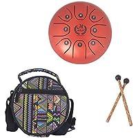 Mmbat/Mebite 5,5 Zoll Mini Stahl Zungentrommel Mini 8-Tone C Key Percussion Instrument Hand Pan Drum (mit 1 Knocking Stick + 1 National Style Drum Bag)
