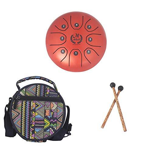 MMBAT Mebite Zungentrommel Handpan Brahma 14 cm Mini Happy Drum Musical Instrument mit Stäben und...