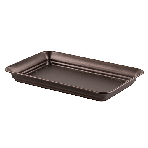InterDesign Bathroom Vanity Countertop Guest Towel and Organizer Tray, Bronze