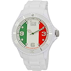 Ice-Watch Big Quartz Watch with Multicolour Dial Analogue Display and White Silicone Strap WO.IT.B.S.12