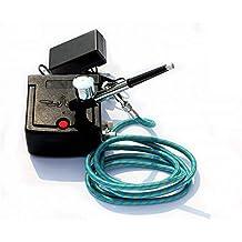 Doble Acción aerógrafo compresor conjunto de herramientas completo para la torta de inyección de tinta de