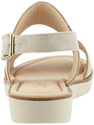 Gabor Shoes Fashion, Sandali con Zeppa Donna Beige (platino/beige 68)