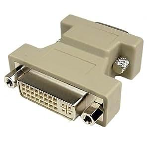 dvi i 24 5 pin female to vga male converter adapter computer zubeh r. Black Bedroom Furniture Sets. Home Design Ideas