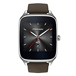 Asus Zenwatch 2 Wi501q-1rtup0004 (4,1 Cm (1,63 Zoll), Qualcomm Snapdragon, 320 X 320 Pixels, Android, Amoled, 4gb, Gummiarmband) Graubraun
