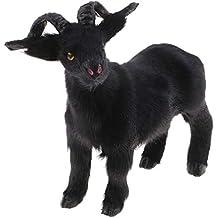 FLAMEER Modelo de Animal de Simulación Cabra Negra de Material de Fibra  Sintética Adornos Decoración - 3e0af2fc7be