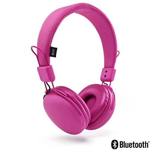 Urbanz Boost Bluetooth Kopfhörer Kinder Jugendliche on-ear wireless (pink)