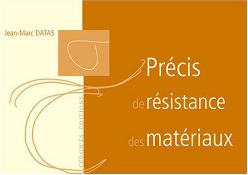 Précis de résistance des matériaux
